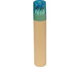 12 Buntstifte in einem Pappköcher