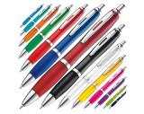 Kugelschreiber mit farbig transparentem Schaft